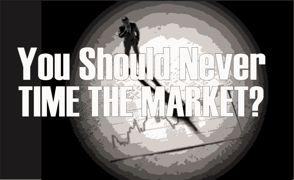 , You Should Never Time The Market?