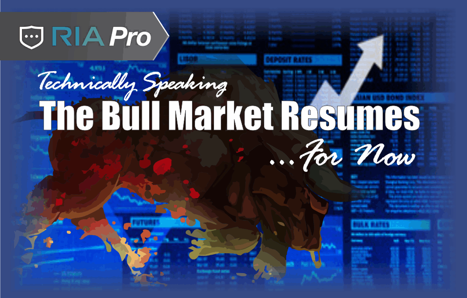 , Technically Speaking (RIA PRO): The Bull Market Resumes…For Now