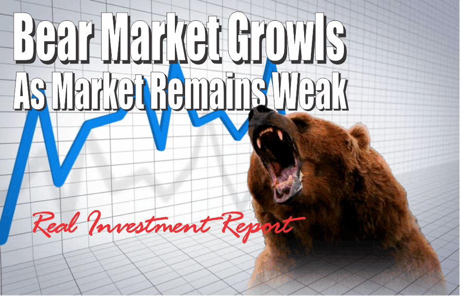 , Bear Market Growls As Market Remains Weak 11-16-18
