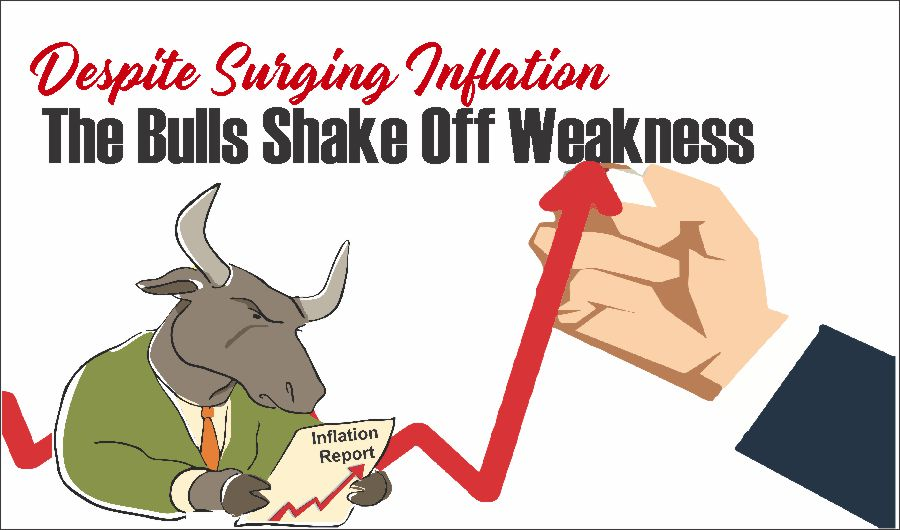 Surging Inflation 05-14-21, Despite Surging Inflation, The Bulls Shake Off Weakness 05-14-21